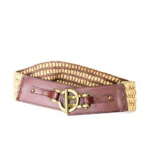 Fossil gold rone hardware stretch back belt szS